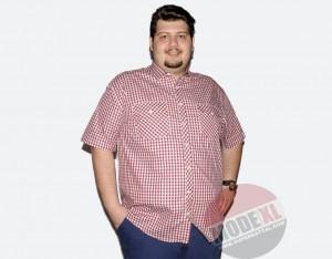 büyük beden erkek kırmızı kareli gömlek