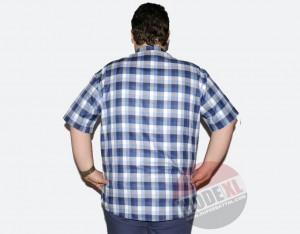 büyük beden erkek mavi kareli gömlek