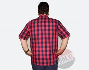 büyük beden erkek gömlek büyük kırmızı kareli
