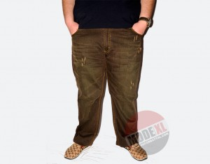 büyük beden erkek yıpratmalı pantolon