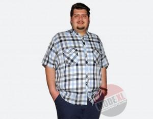 büyük beden erkek kareli ekose karışık renkli gömlek 2015