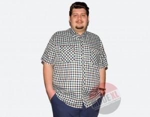 büyük beden erkek küçük kareli ekose gömlek 2015
