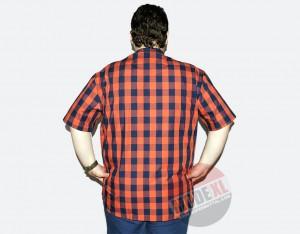 büyük beden erkek ekose oranj gömlek 2015 arka
