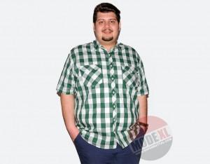 büyük beden erkek kareli yeşil gömlek 2015