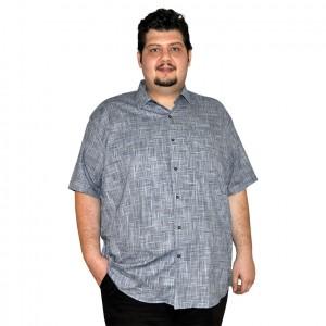 Büyük beden erkek gömlek füme