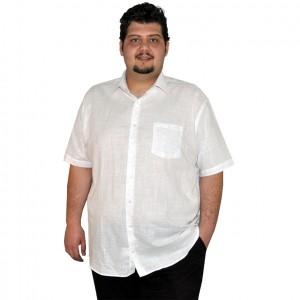 Büyük beden erkek gömlek beyaz cepli
