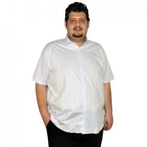 Büyük beden erkek gömlek beyaz cepsiz
