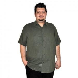 Büyük beden erkek gömlek haki