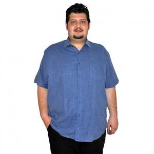 Büyük beden erkek gömlek indigo