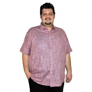 Büyük beden erkek gömlek pembe